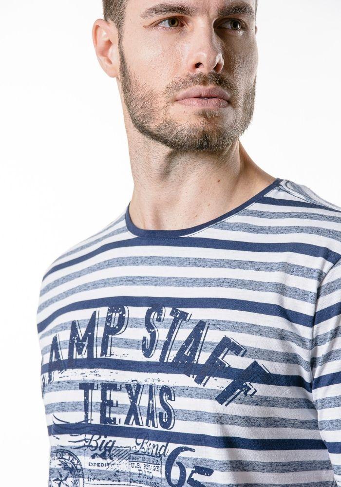 Camiseta Manga Curta Listrada Camp Staff Marinho