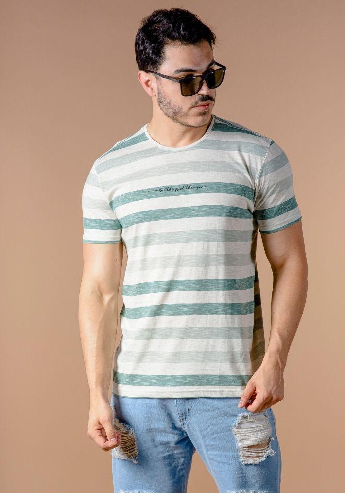 Camiseta Manga Curta Listrada Green Water