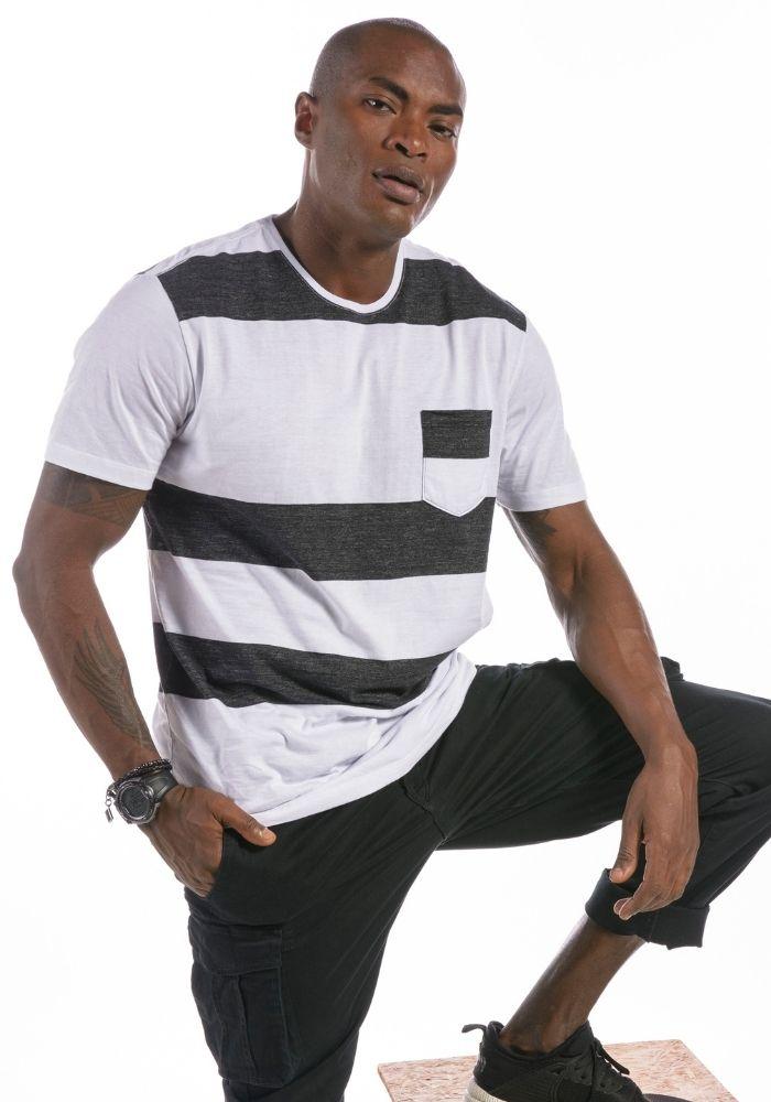 Camiseta Manga Curta Listrada P&B