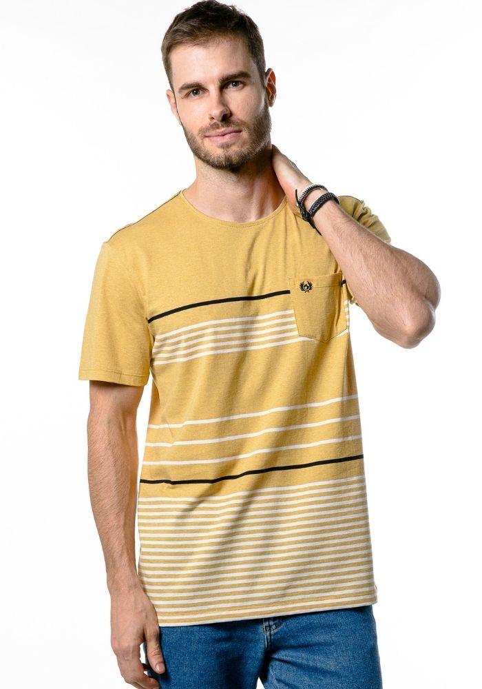 Camiseta Manga Curta Listrada Sun Light Amarela