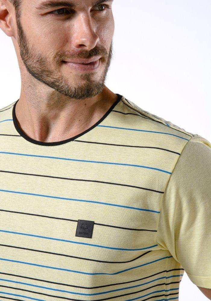 Camiseta Manga Curta Listrada Yellow