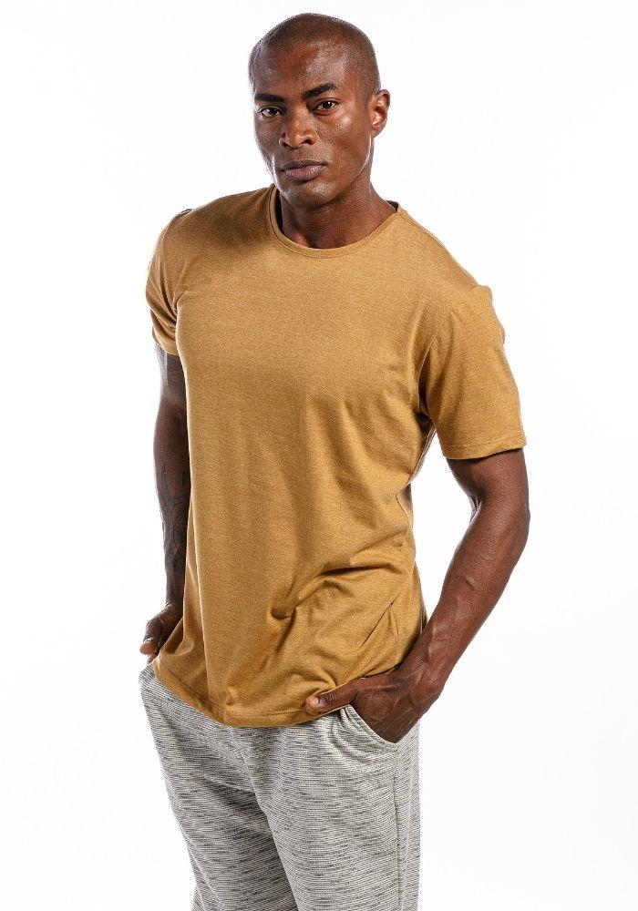 Camiseta Manga Curta Basics Cia Gota Ocre Mescla