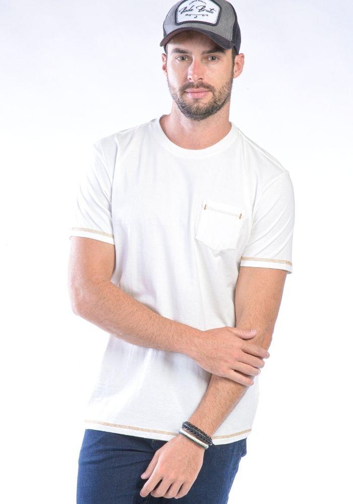 Camiseta Manga Curta Off-white Básica