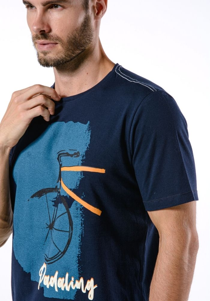 Camiseta Manga Curta Padaling Marinho