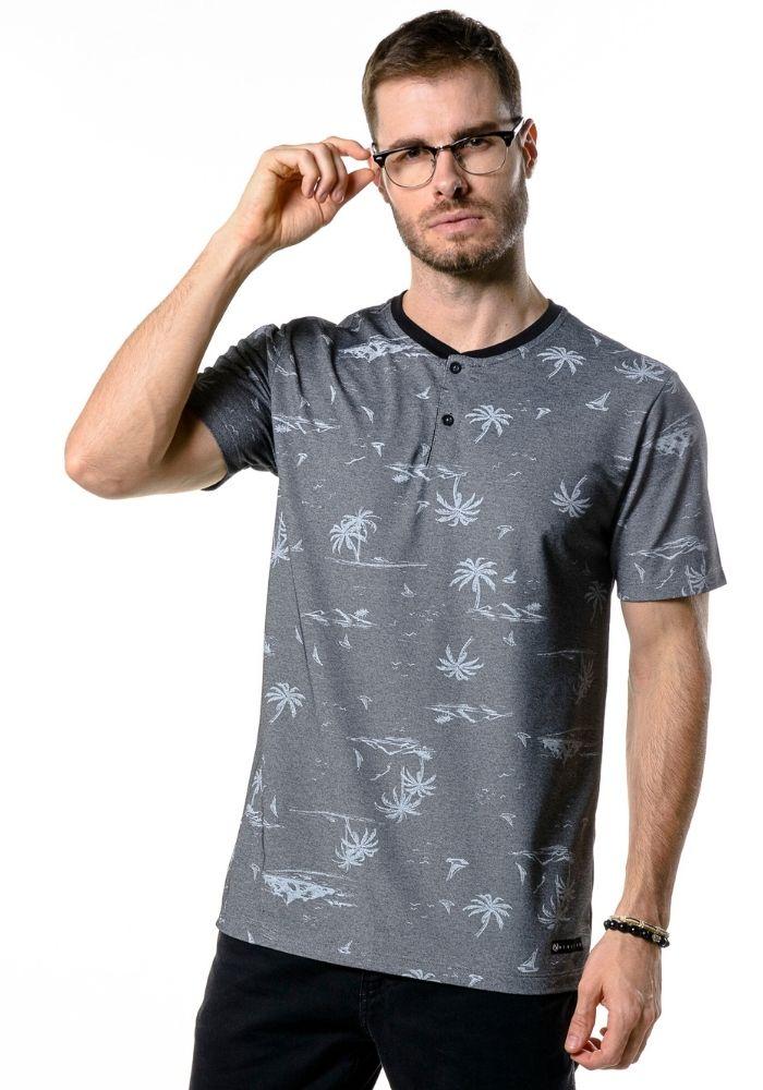 Camiseta Manga Curta Portuguesa Beach Dark Preto
