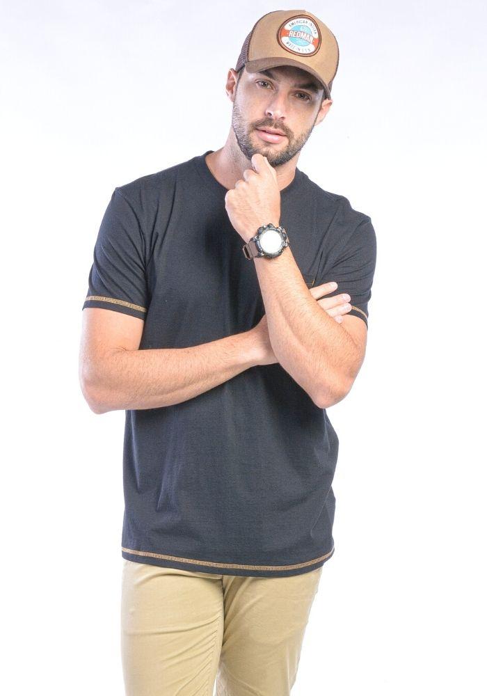 Camiseta Manga Curta Preto Básica