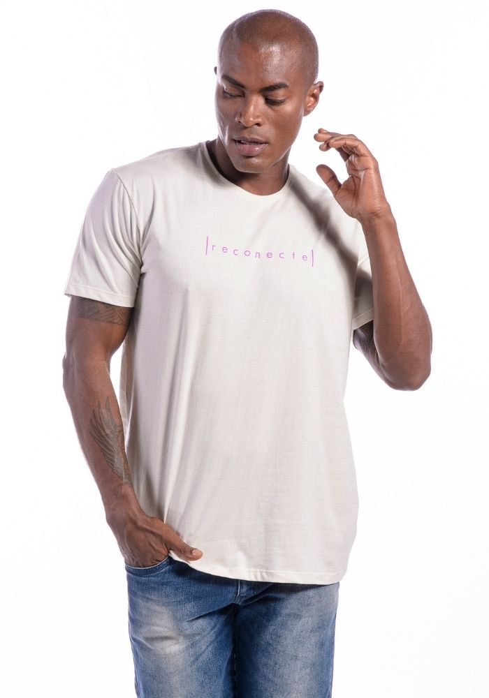Camiseta Manga Curta Reconecte Off White