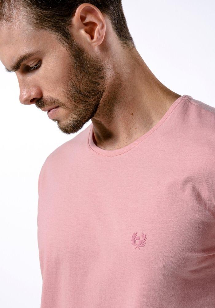 Camiseta Manga Curta Rosa Logo Básica Cia Gota