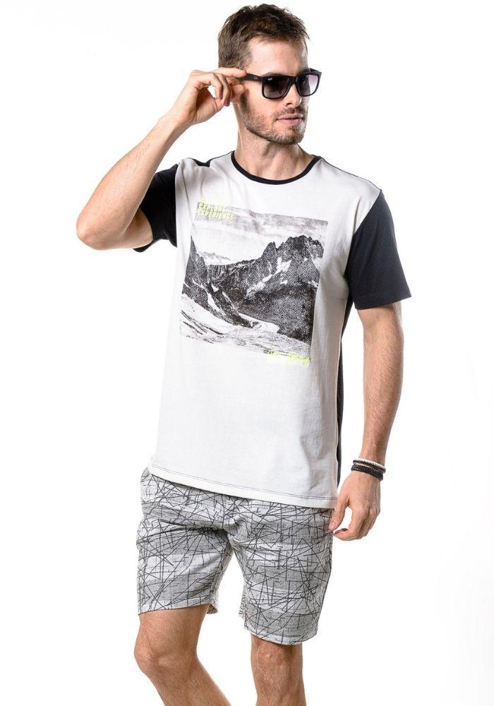 Camiseta Manga Curta Stay Strong Branca