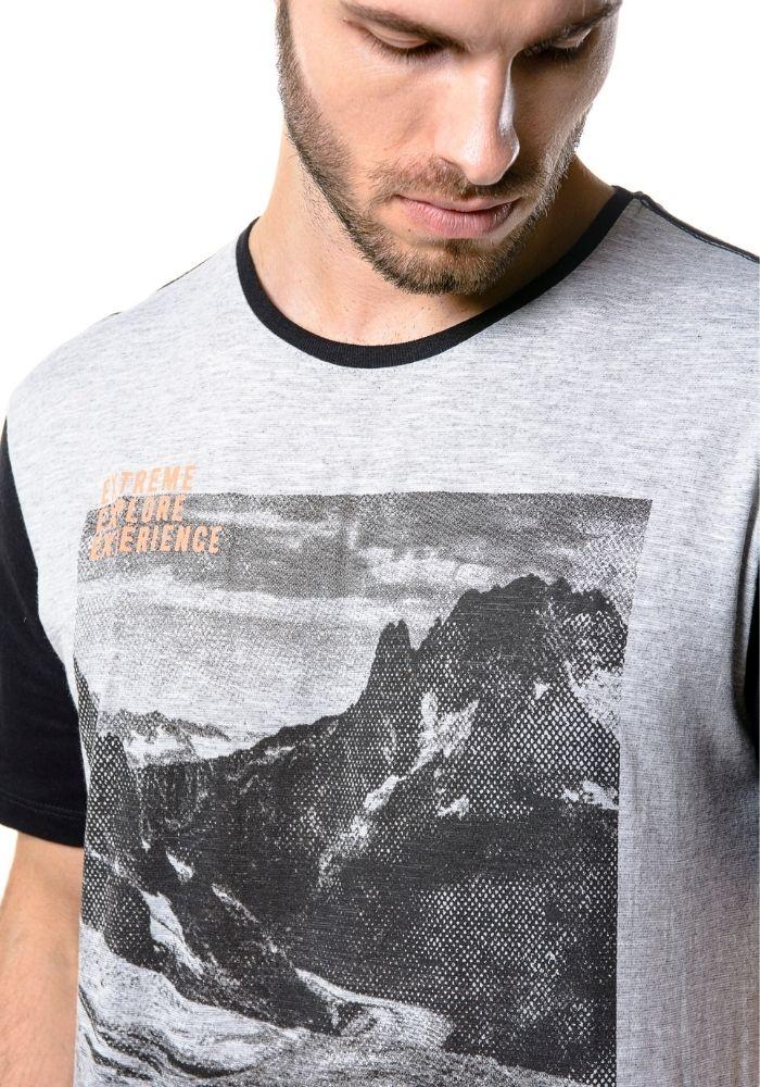 Camiseta Manga Curta Stay Strong Cinza Mescla