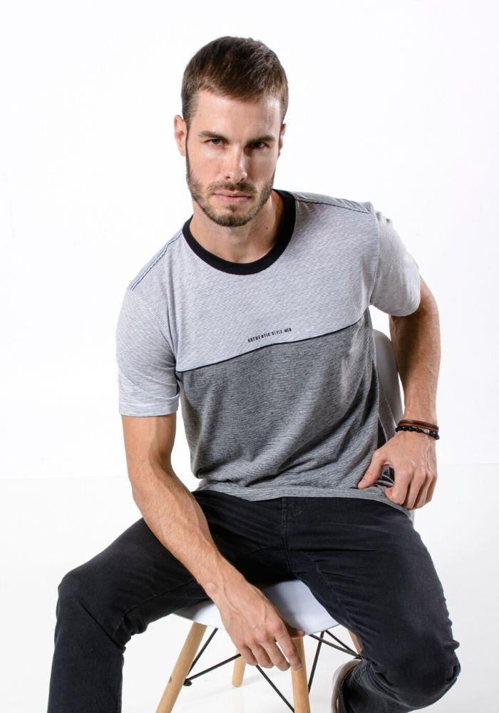 Camiseta Manga Curta Style Men Branco