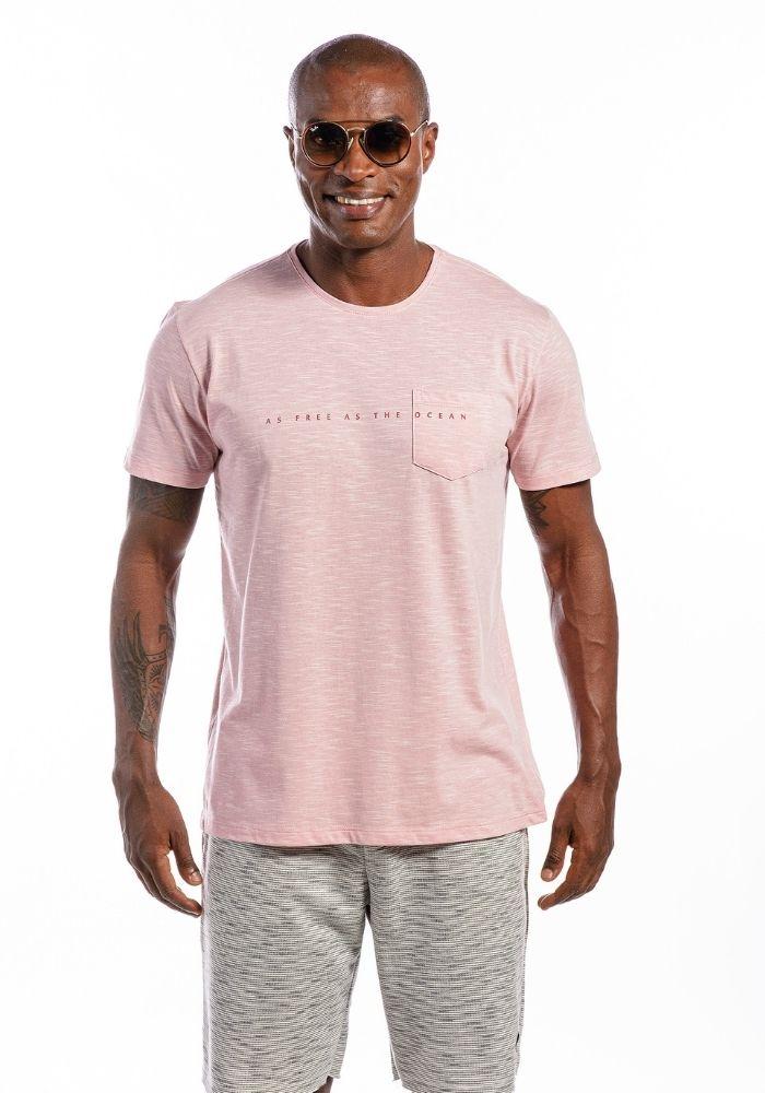 Camiseta Manga Curta The Ocean Color Rosa Claro