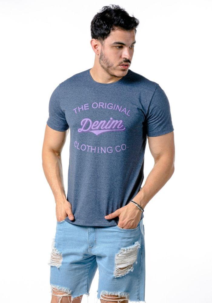 Camiseta Manga Curta The Original Denim Marinho