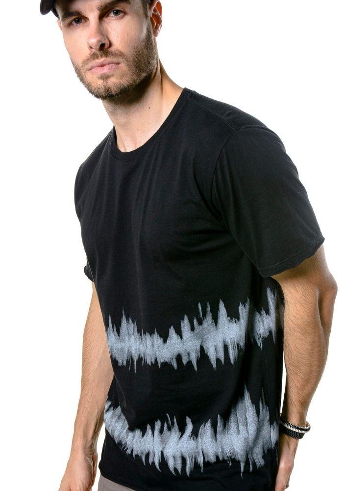 Camiseta Manga Curta Tie Dye Black