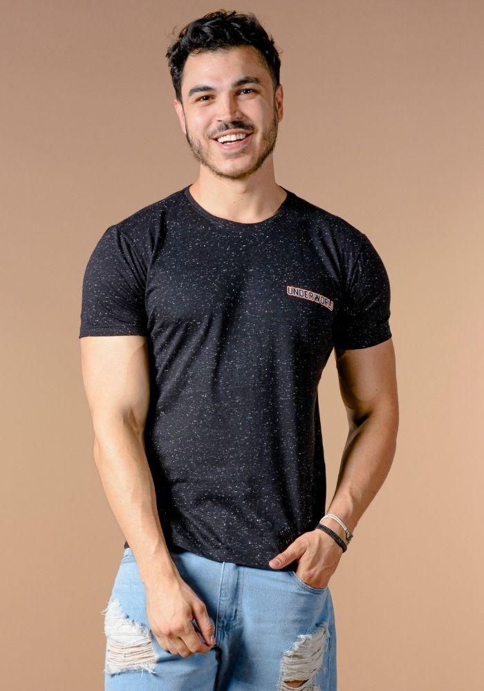 Camiseta Manga Curta UnderWorld Preta