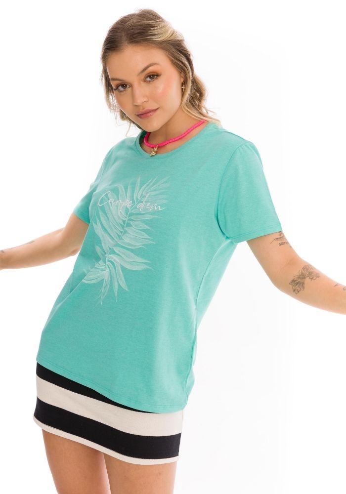 Camiseta Manga Curta Verde Carpe Dien