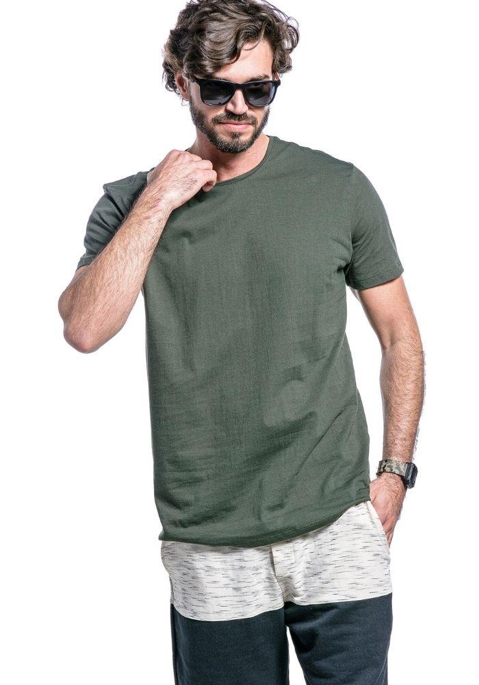 Camiseta Manga Curta Basics Cia Gota Verde Militar