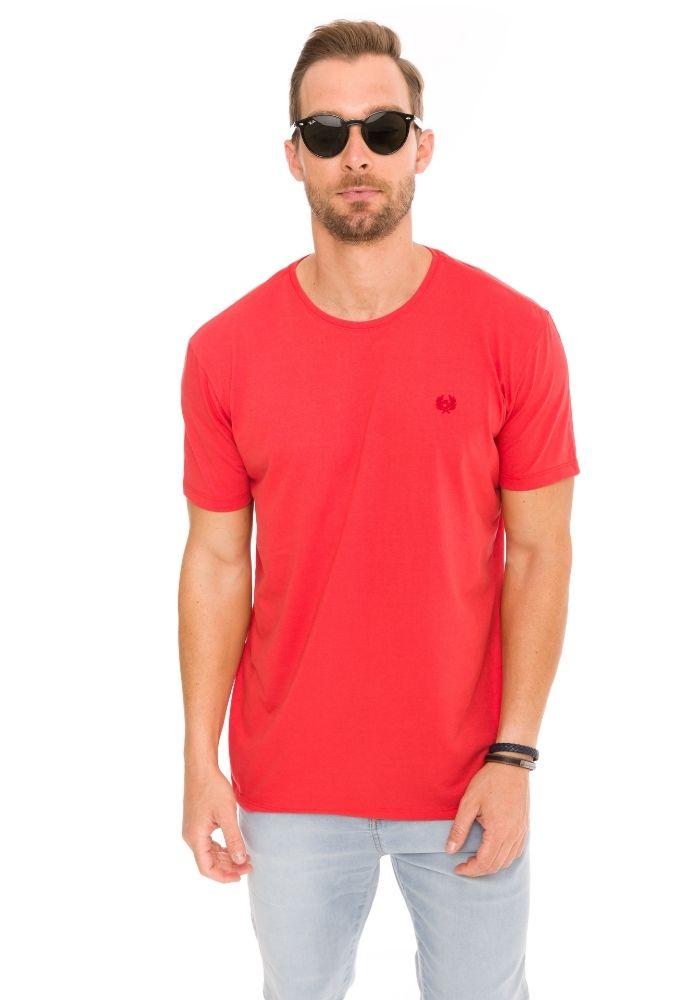 Camiseta Manga Curta Vermelho Basics Cia Gota