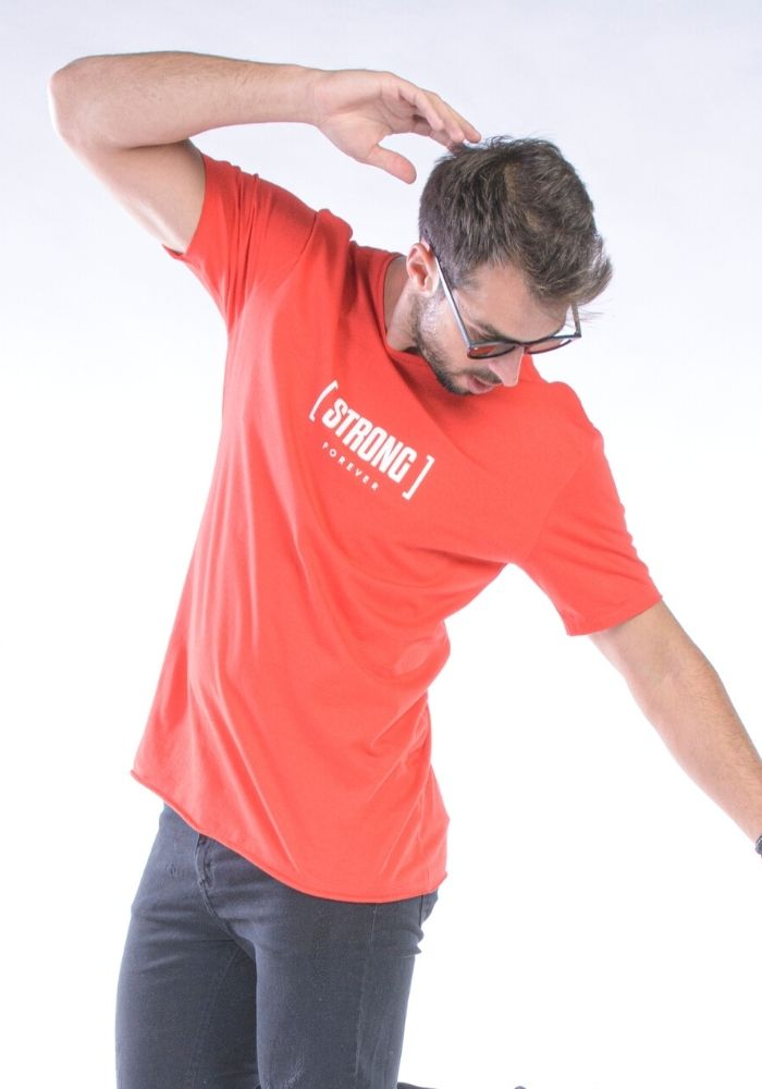 Camiseta Manga Curta Vermelho Strong Forever