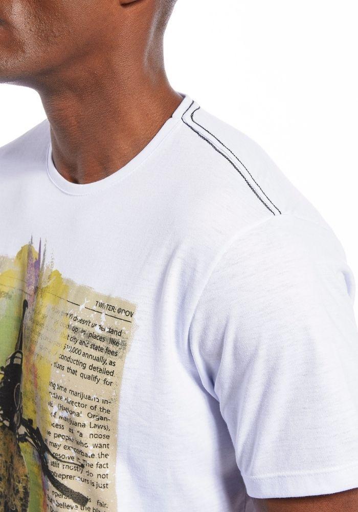 Camiseta Manga Curta Vintage Club Branca