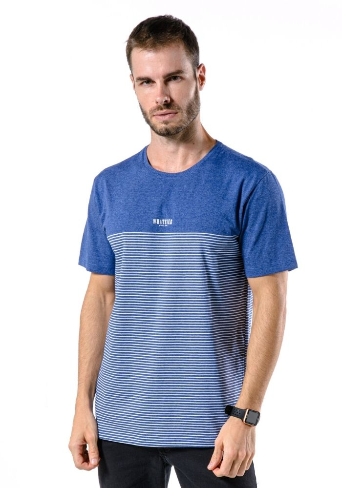 Camiseta Manga Curta Whatever Azul