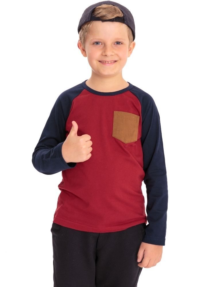 Camiseta Manga Longa Basic Have Fun Vinho