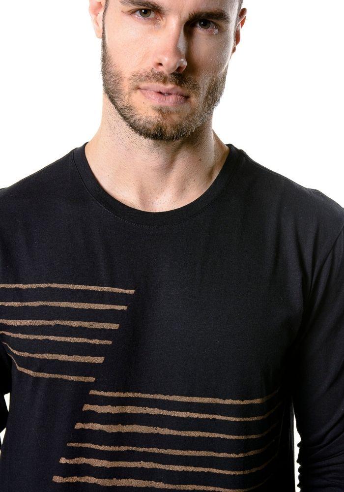 Camiseta Manga Longa Urban Preta