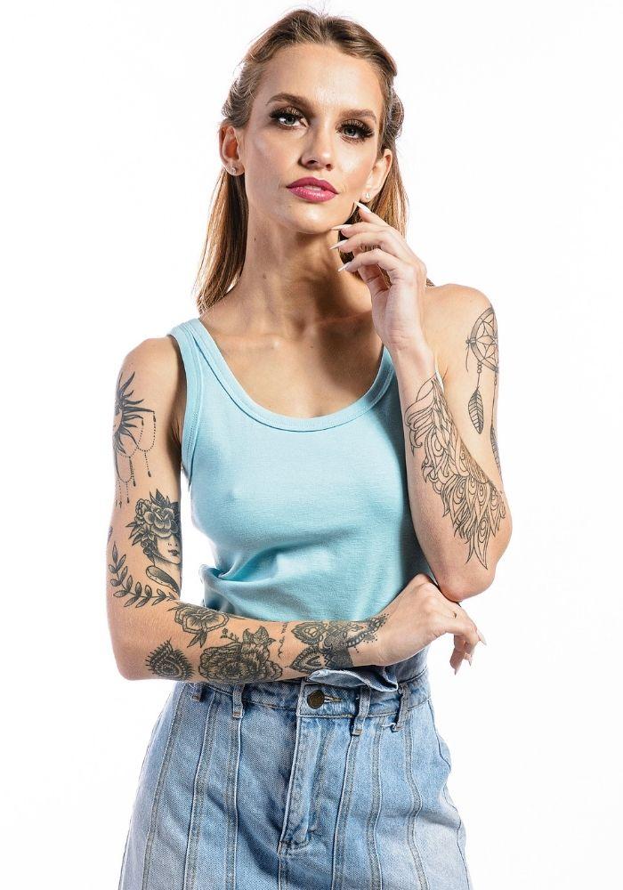Camiseta Regata Básica Cia Gota Woman Azul