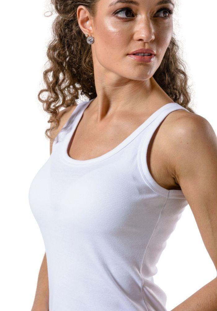 Camiseta Regata Básica Cia Gota Woman Branca