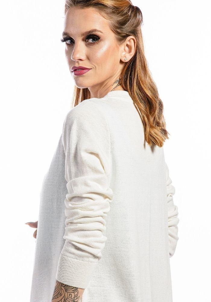 Cardigan Feminino Basic Woman Off White