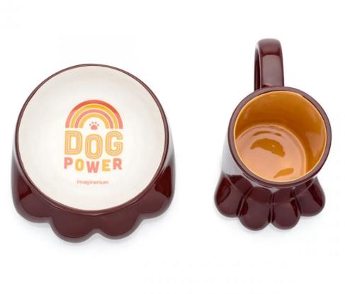 caneca e comedouro dog power