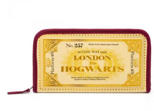 carteira de viagem harry potter expresso hogwarts