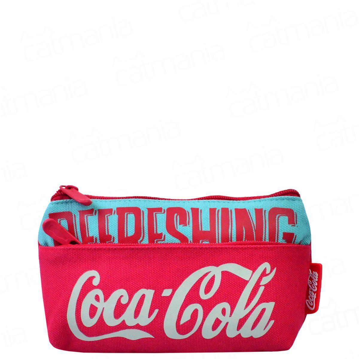 Estojo Escolar Coca-Cola Retrô Refreshing Vermelho 7115217