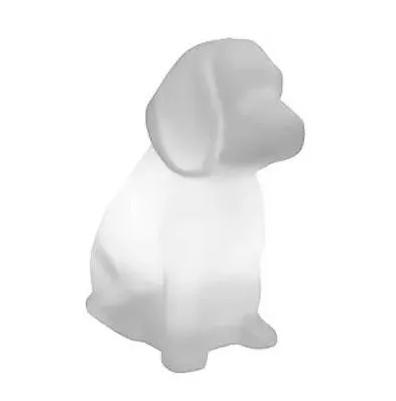Luminária Abajur cachorro Toby Branco