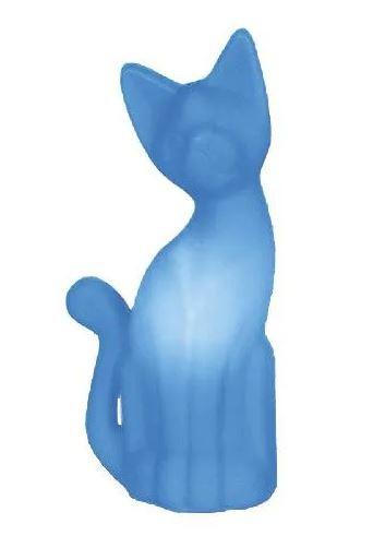 Luminária Abajur Gato Magrelo Azul