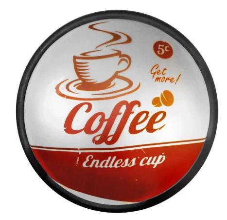 Luminária Decorativa de Parede Sign Cofee - Usare