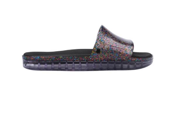 Melissa Beach Slide Next Gen Glitter Vidro