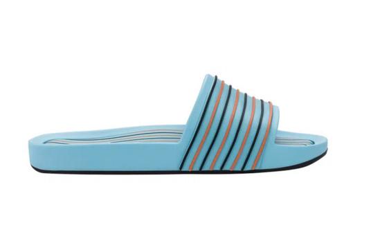 Melissa Beach Slide Street Azul/Preto/Lilás