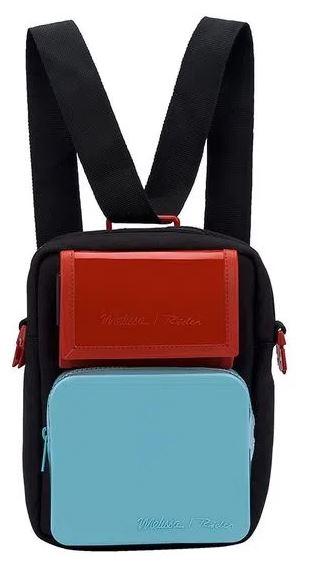 Melissa Max Bag Rider Preto/ Azul/ Vermelho