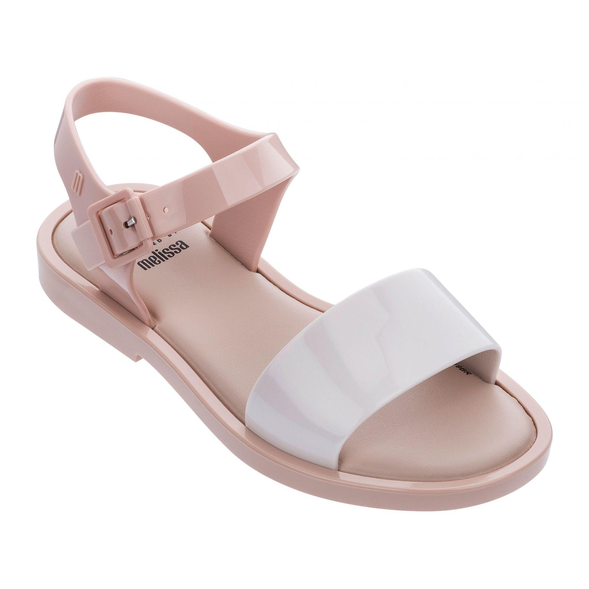 Melissa Mel Mar Sandal Bege Branco Rosa