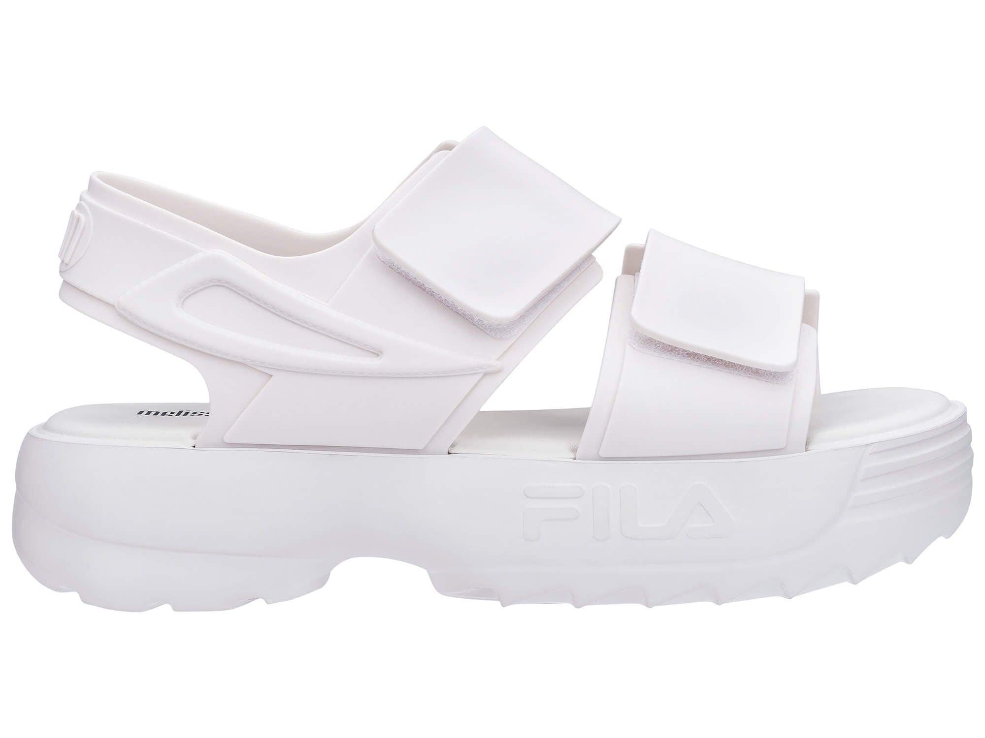 Melissa Sandal + Fila Branco/Branco