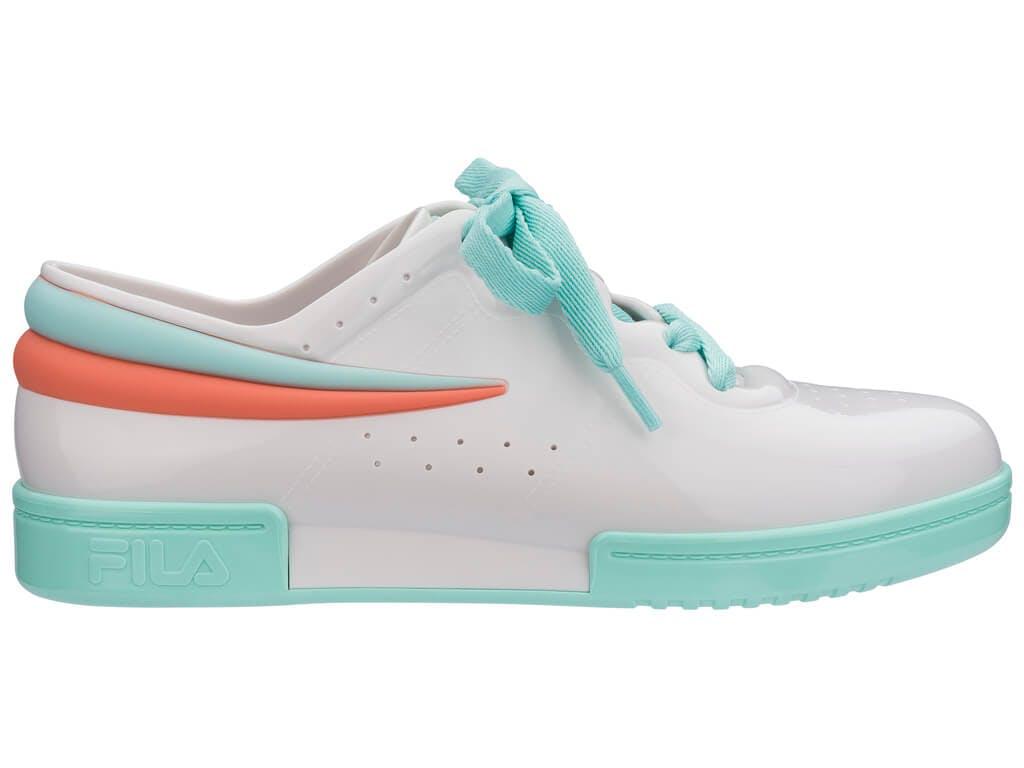 Melissa Sneaker + Fila Branco/Verde/Rosa