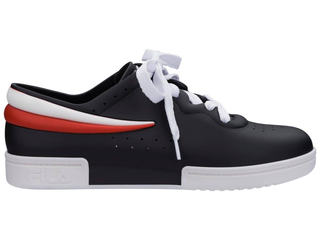 Melissa Sneaker + Fila Preto/Branco/Vermelho