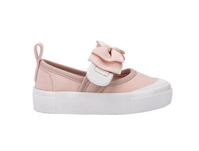 Mini Melissa Basic Branco/Rosa