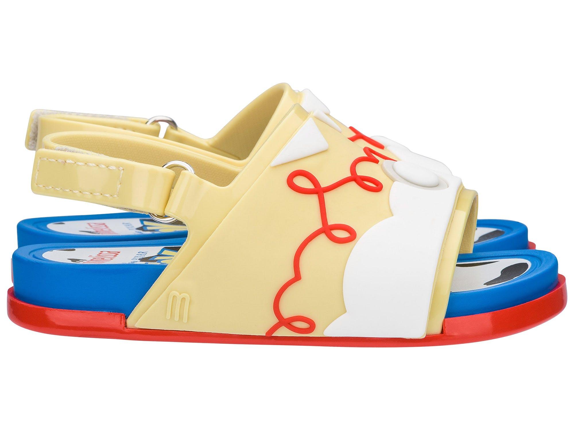 Mini Melissa Beach Slide + Toy Story Azul/Amarela/Vermelha
