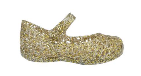 Mini Melissa Campana Dourada Metalizada