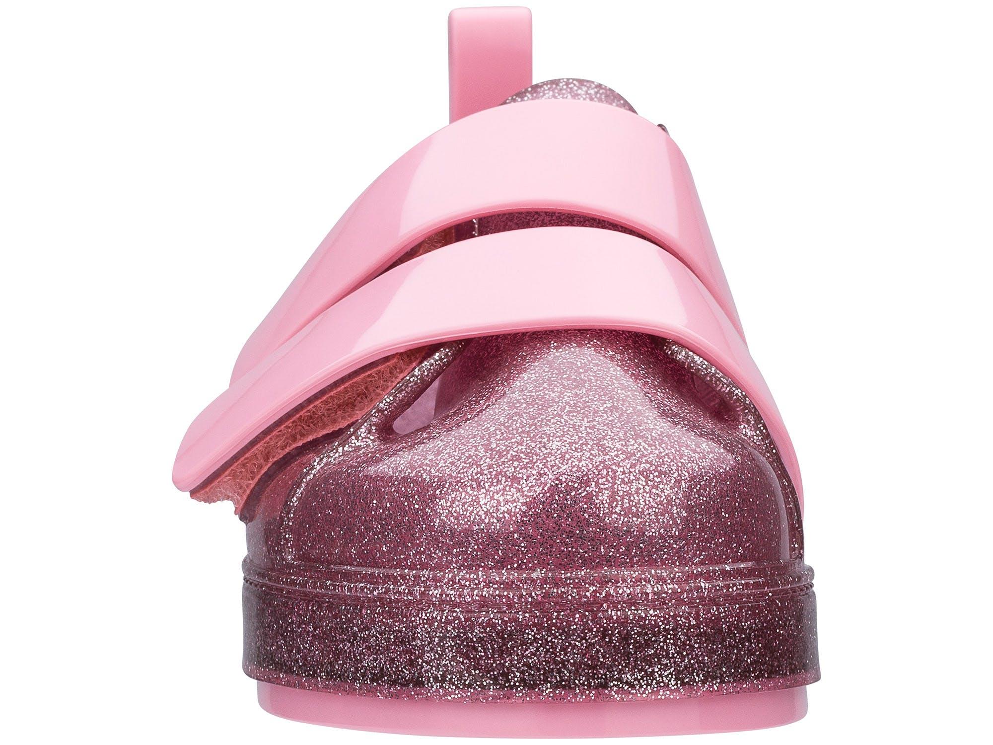 Mini Melissa Go Sneaker Rosa Glitter