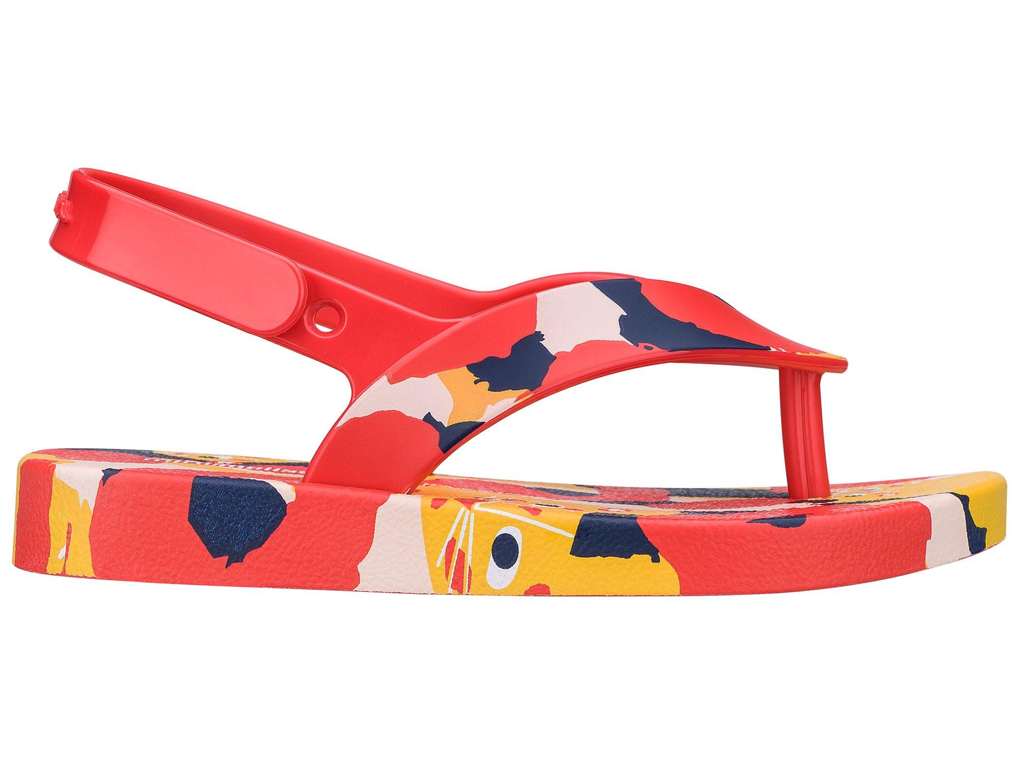 Mini Melissa Ipanema Vermelho Vermelho  Amarelo