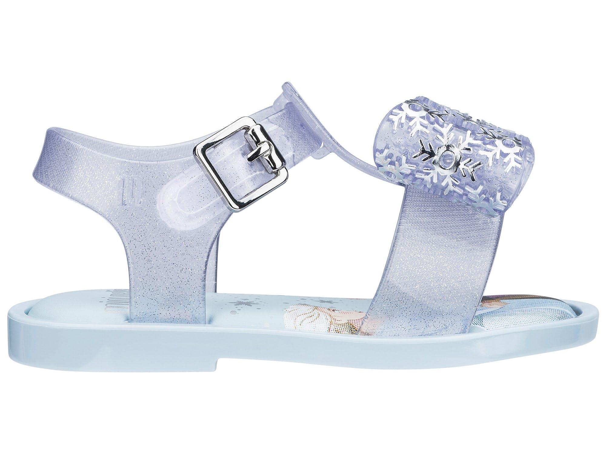 Mini Melissa Mar Sandal Frozen Lilás/Azul Glitter Misto
