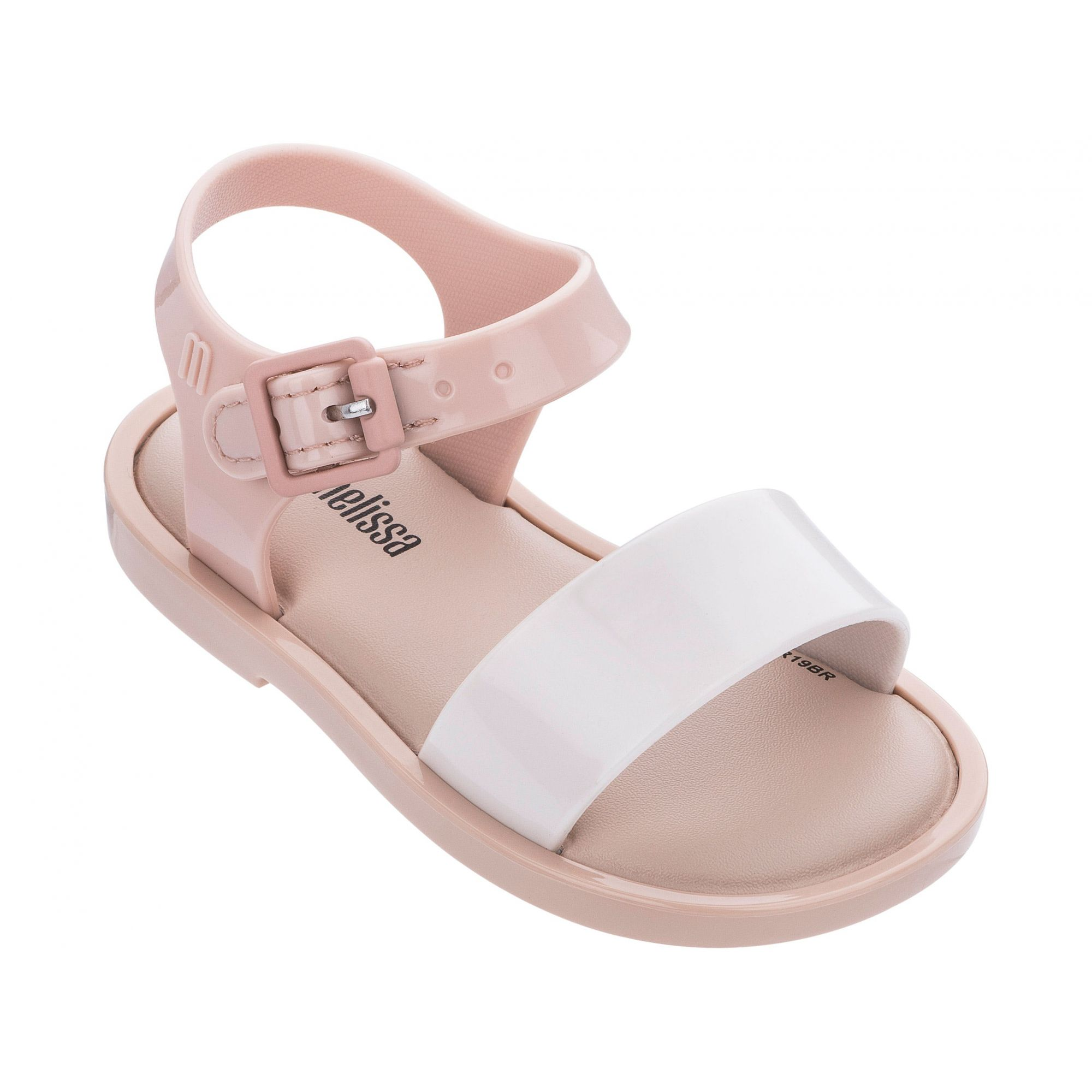 Mini Melissa Mar Sandal IV Bege Branco Marron